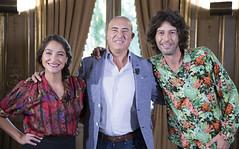 Georgina, Moisés Rodríguez y Andy Chango