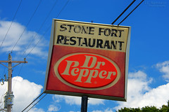 Stone Fort Restaurant - Dr Pepper sign - Manchester, Tennessee