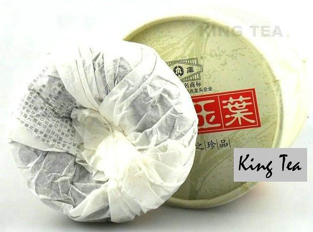 Free Shipping 2011 ShuangJiang MENGKU BING DAO YU YE Tuo Bowl YunNan Organic Pu'er Raw Tea Sheng Cha Weight Loss Slim Beauty