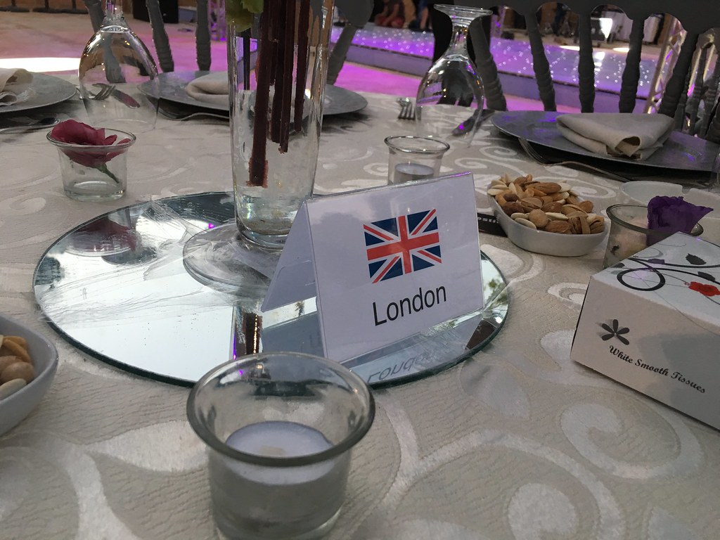Jordan 2017 - London table