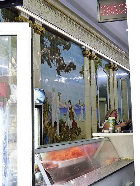 belle mosaïque dans une boutique