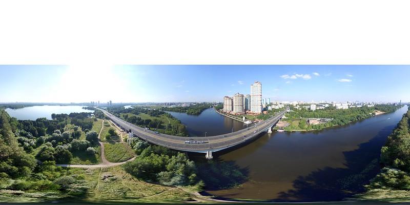 Moscow Stroginskiy bridge