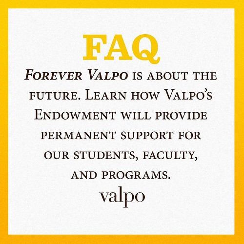 Nearly a year ago, Valpo launched Forever Valpo: The Campaign for Our Future, a $250 million endowment campaign to provide permanent support for scholarships, faculty development, and programs. Learn more about Valpo's endowment and how it will impact the