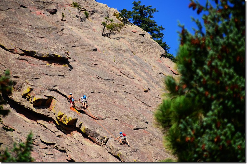 Rock Climbers on the First Flatiron 1