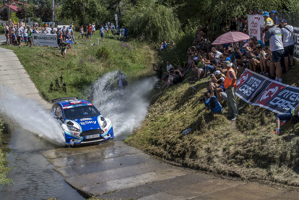 17 HABAJ Lukasz (POL) DYMURSKI Daniel (POL) Ford Fiesta R5 action during the 2017 European Rally Championship Rally Rzeszowski in Poland from August 4 to 6 - Photo Gregory Lenormand / DPPI