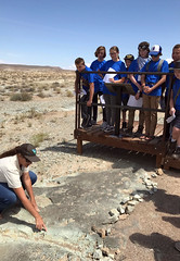 Canyon Country District Paleontologist ReBecca Hunt-Foster talks tracks at Mill Canyon Track Site