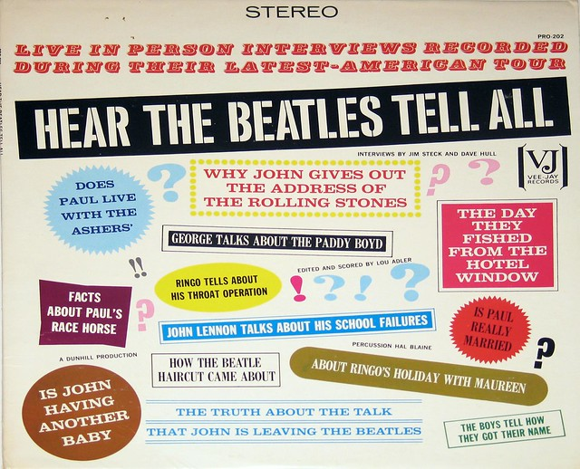 "Beatles - Hear the Beatles Tell All 12"" Vinyl LP"