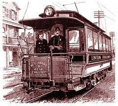 Trolley in West Chester, New York -- 1894