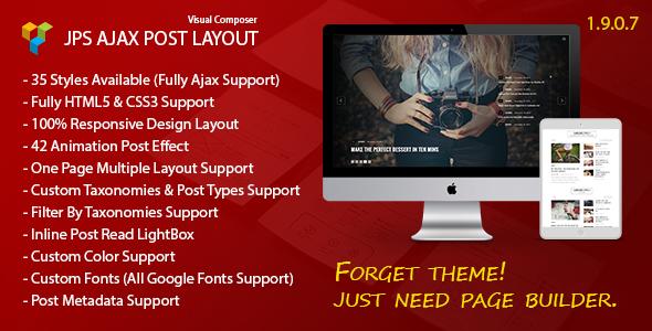 JPS Ajax Post Layout v1.9.0.7 – Addon For Visual Composer