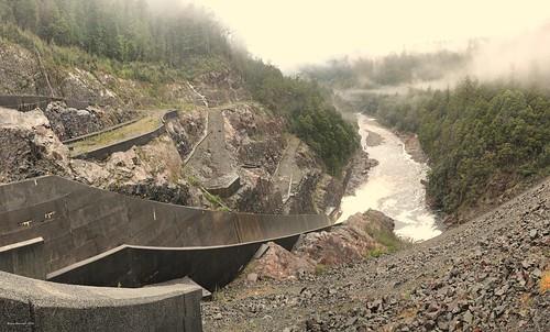 Murchison Dam spillway.