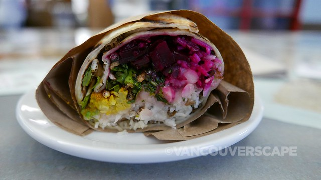 Tacofino Oasis cauliflower and beet burritos