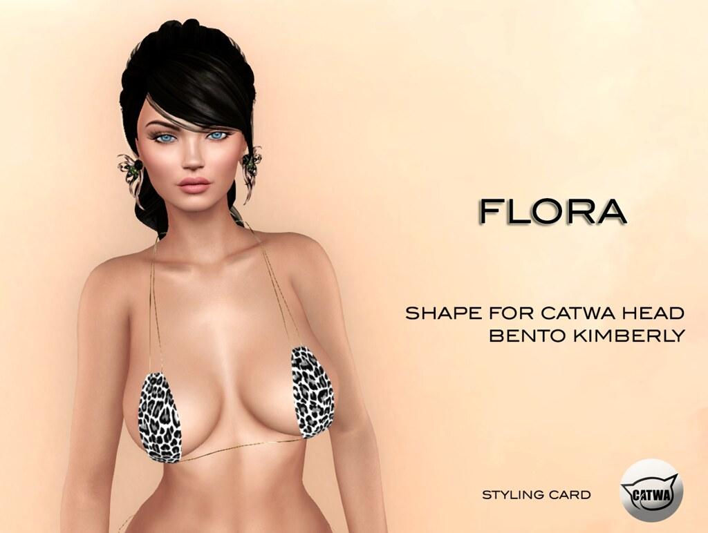 Flora shape for Catwa Bento Kimberly - TeleportHub.com Live!