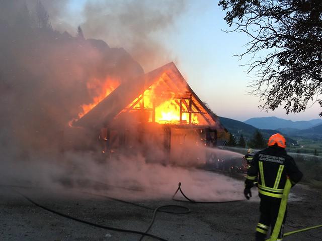 Brandeinsatz Nebengebäude