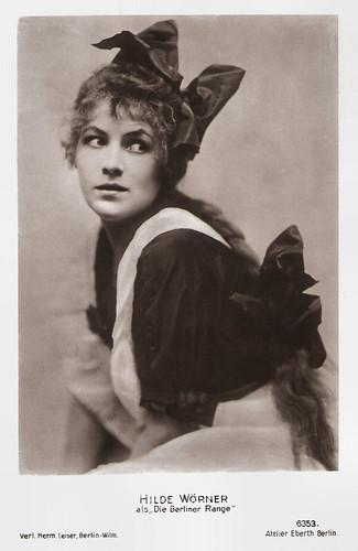 Hilde Wörner in Die Berliner Range (1913)