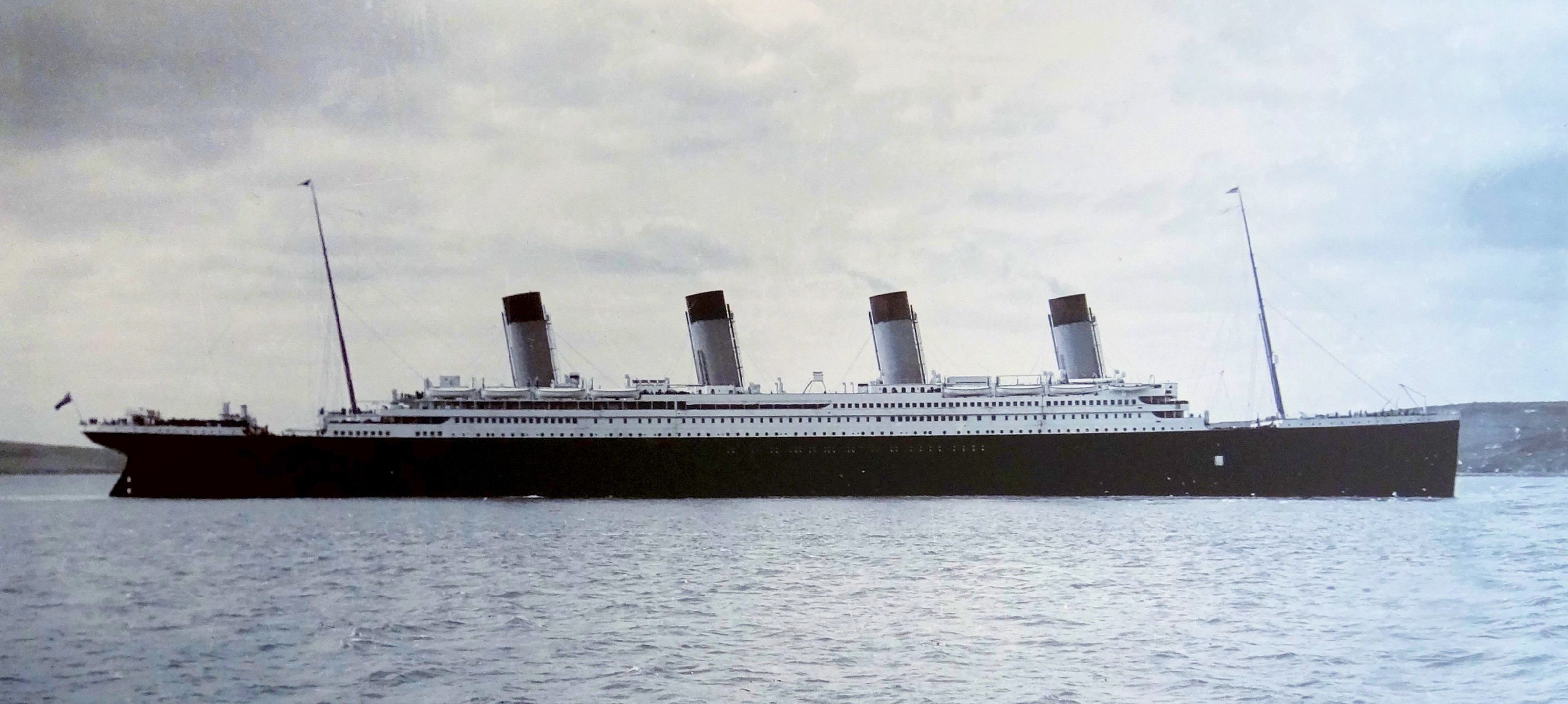 Titanic at Queenstown, April 11, 1912