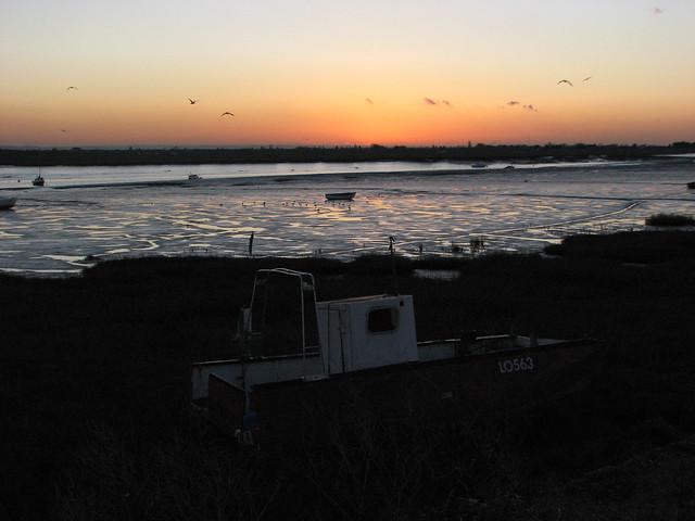Sunset at Benfleet Creek