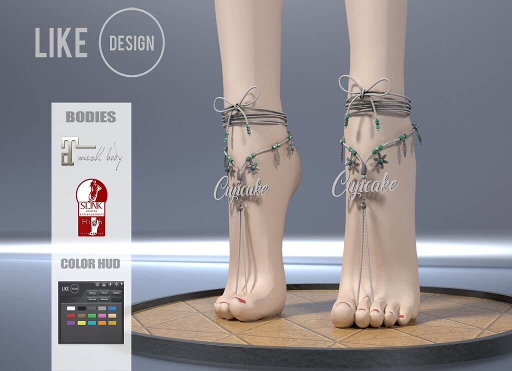 .: LIKE DESIGN :. Highfeet Anklet V4 - SecondLifeHub.com