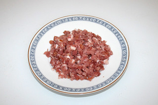 03 - Zutat gewürfelter Speck / Ingredient dices bacon