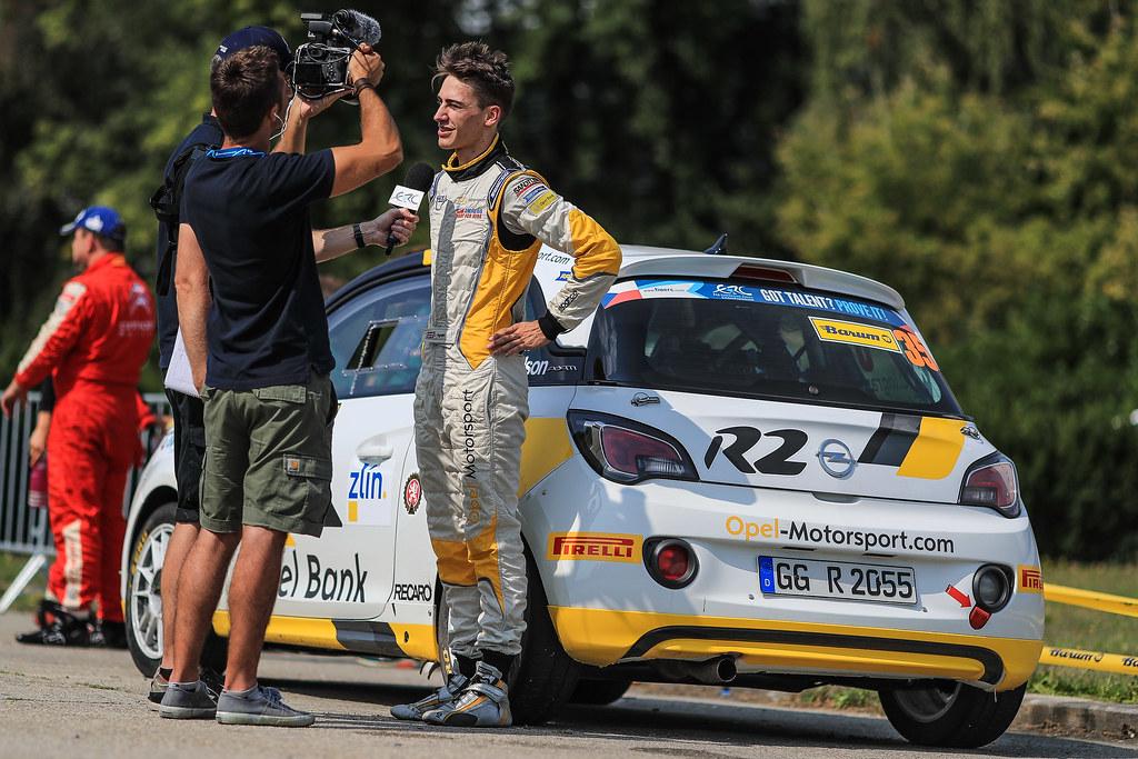 35 INGRAM Chris (GBR) ELLIOTT Edmondson (GBR) Opel Adam R2 ambience portait during the 2017 European Rally Championship ERC Barum rally,  from August 25 to 27, at Zlin, Czech Republic - Photo Jorge Cunha / DPPI