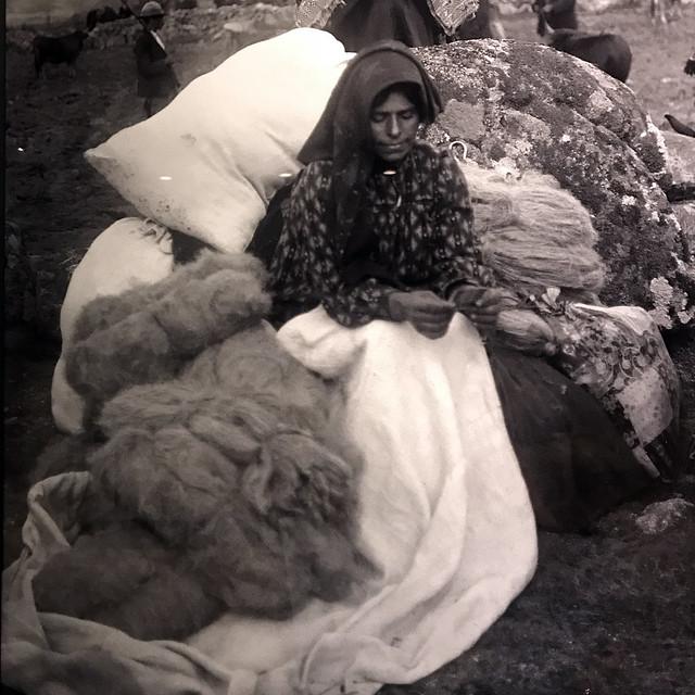 vergílio correia, mulher e linho