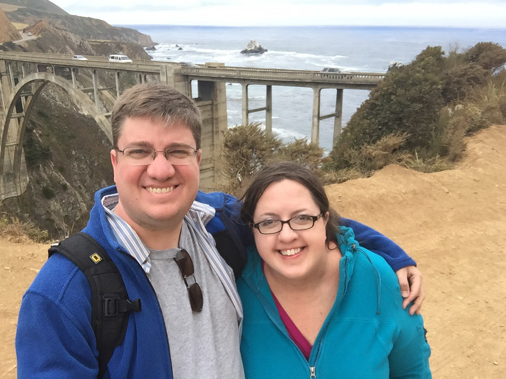Ken and I at Bixby Creek Bridge