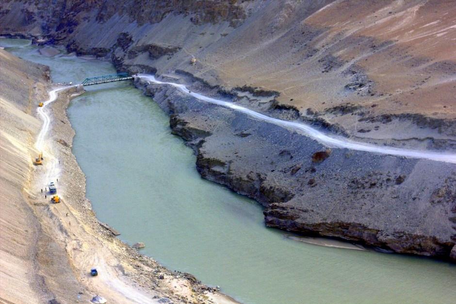 Many rivers cut through the Ladakh region of India