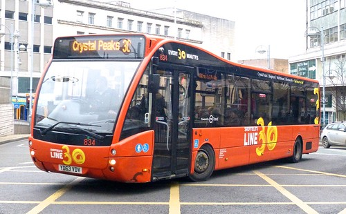 YD63 VDV 'TM Travel' No. 834 Optare Versa on 'Dennis Basford's railsroadsrunways.blogspot.co.uk'