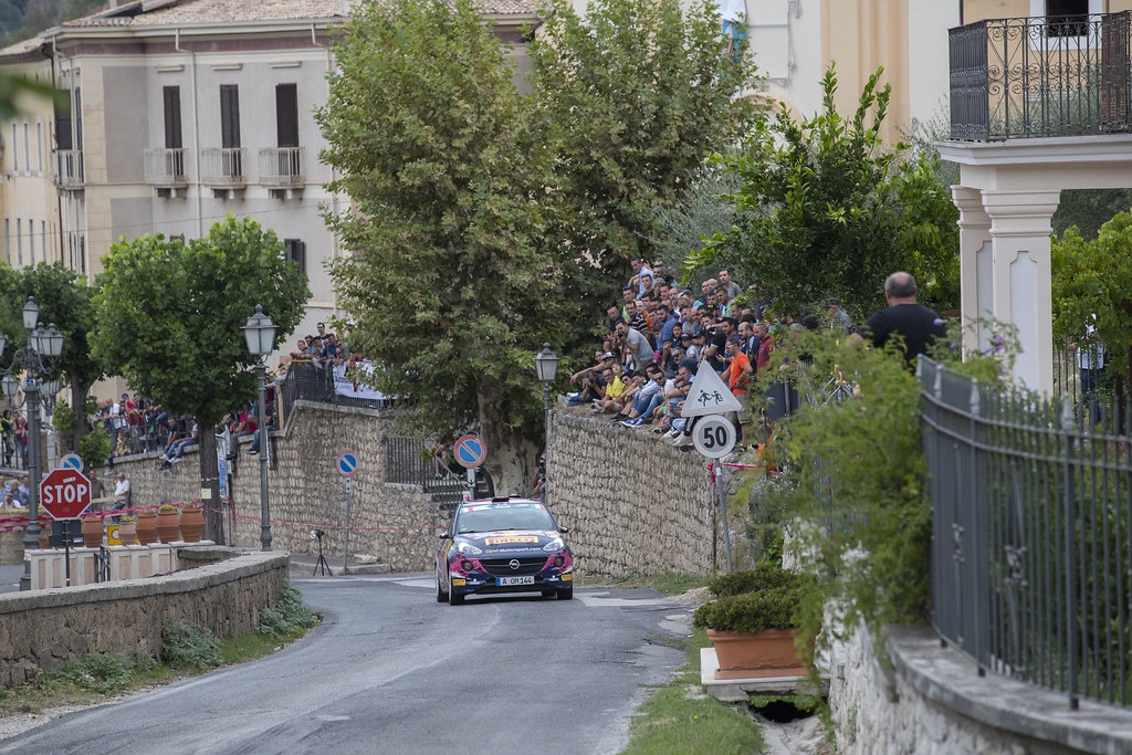 32  MOLINARO Tamara (ITA) BERNARCCHINI  GIOVANNI (ITA)  Opel Adam R2 action during the 2017 European Rally Championship ERC Rally di Roma Capitale,  from september 15 to 17 , at Fiuggi, Italia - Photo Gregory Lenormand / DPPI