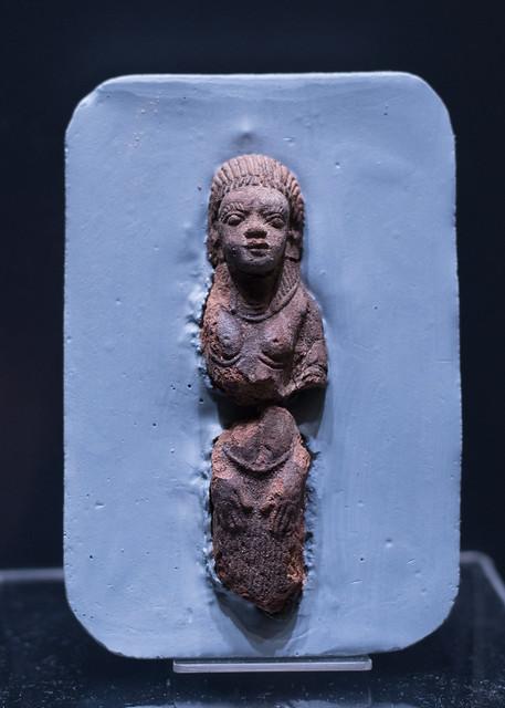 Terracotta statuette of a Nubian woman