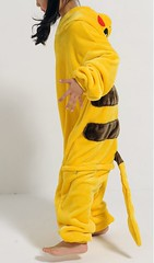 Pikachu Closed Mouth Onesie Costume for kids
