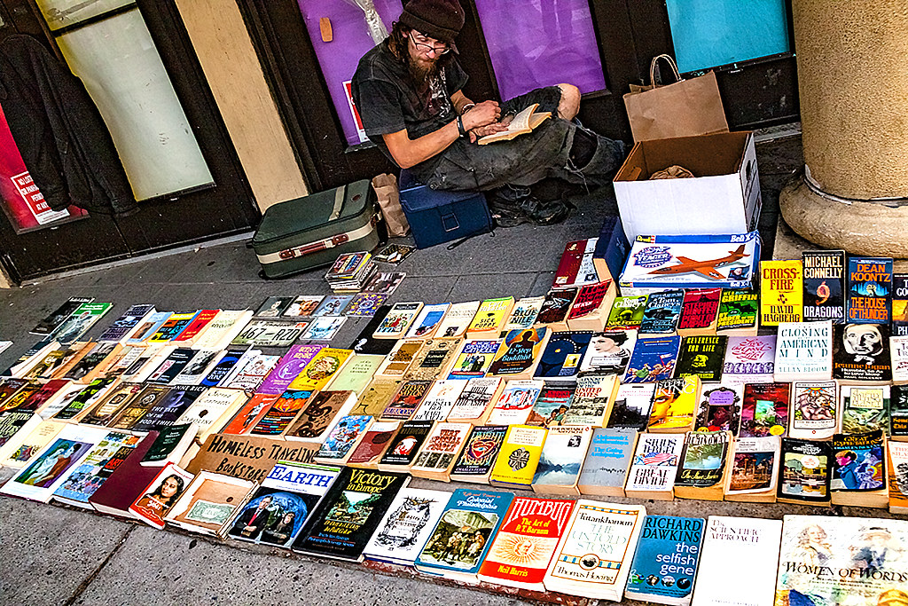 Homeless bookseller--South Street