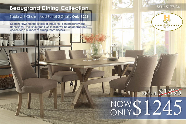 Beaugand Dining Collection 5177-84