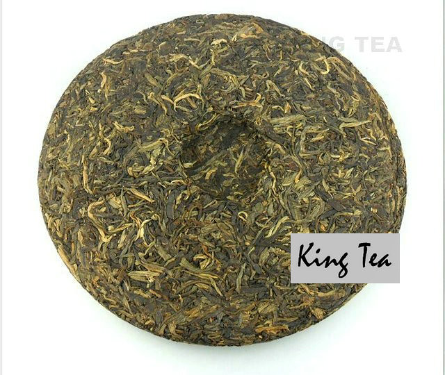 Free Shipping 2009 ShuangJiang MENGKU Original Flavor Beeng Cake Bing 600g YunNan Organic Pu'er Raw Tea Sheng Cha Weight Loss Slim Beauty