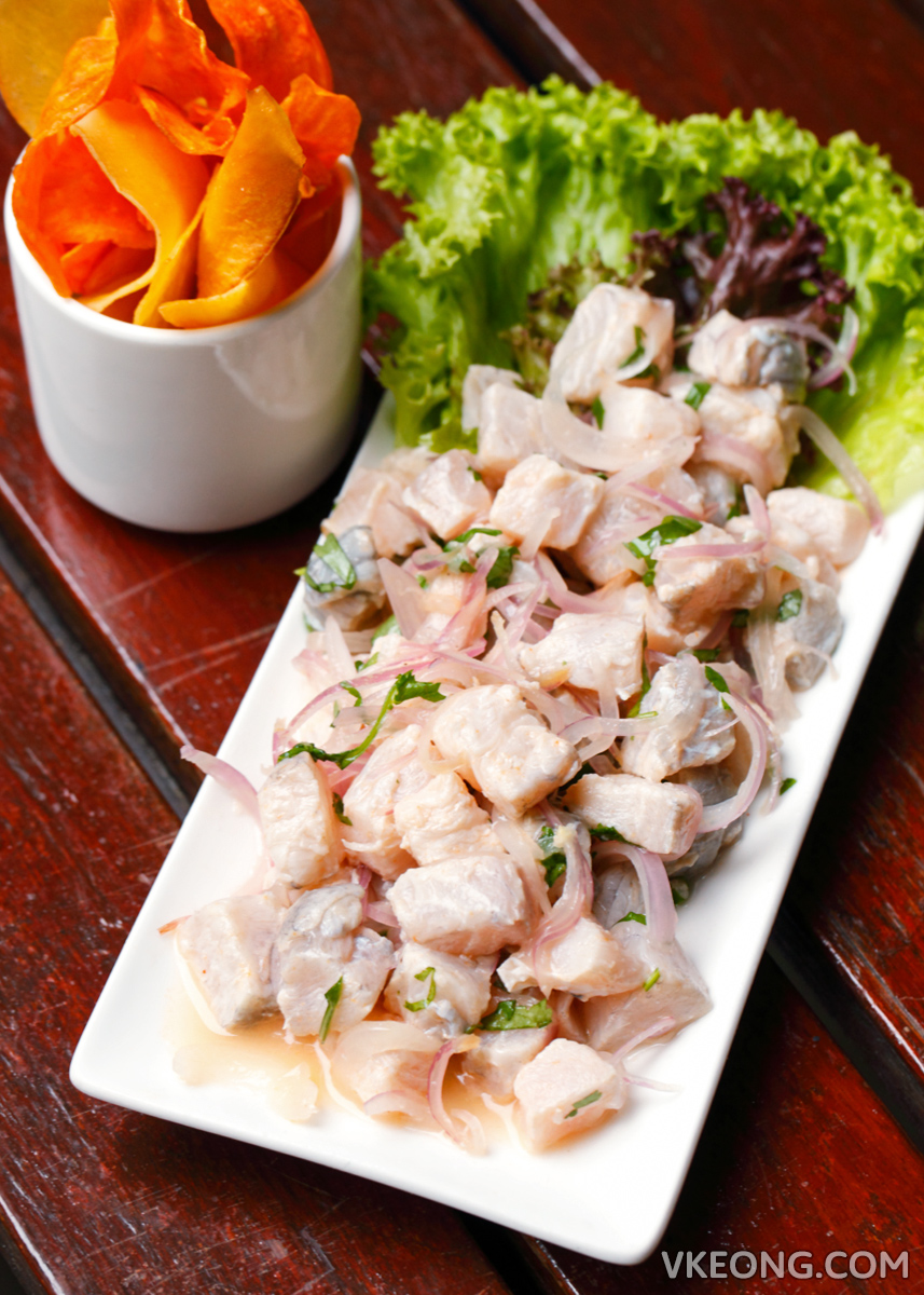 Pisco Bar Seabass Ceviche with Chips
