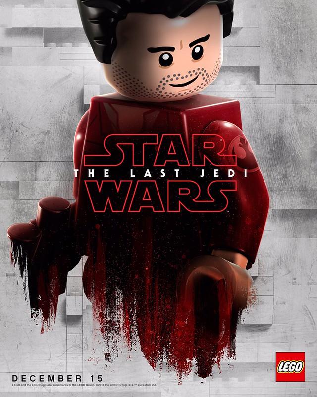 Plakaty LEGO z postaciami Star Wars The Last Jedi 4