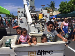 Hawaii Electric Light participates in Touch-A-Truck - August 12, 2017: In the bucket truck!