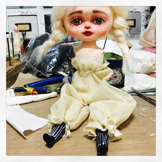 She has pantaloons now. #wip #danitaart #artdoll #dollstagram #artdollsculpture #artdollmaker #ooak #uniquedoll
