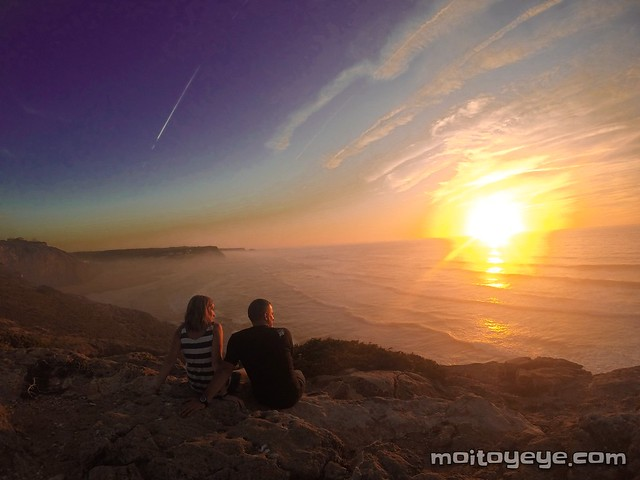 Puesta de sol desde Playa Do Monte Clerigo