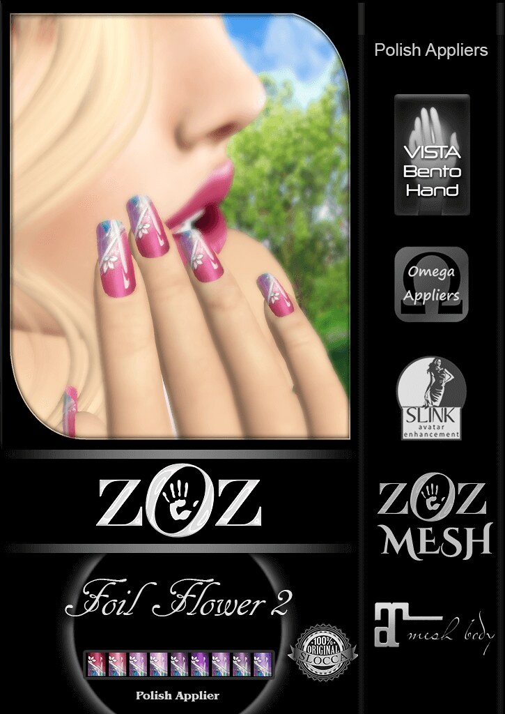 {ZOZ}  Foil Flower 2 pix L - SecondLifeHub.com
