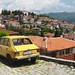 Old Yellow Car Overlooking Lake Ohrid (Zastava)