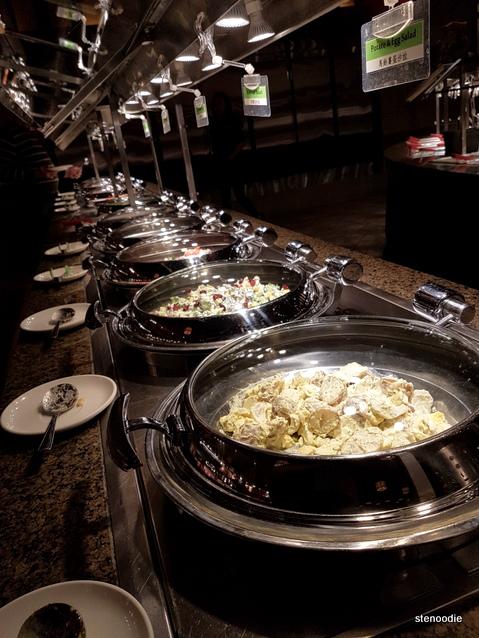 Genghis Khan Mongolian Grill buffet selection