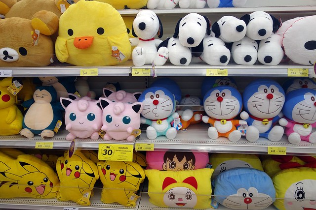 cute dolls in the supermarket