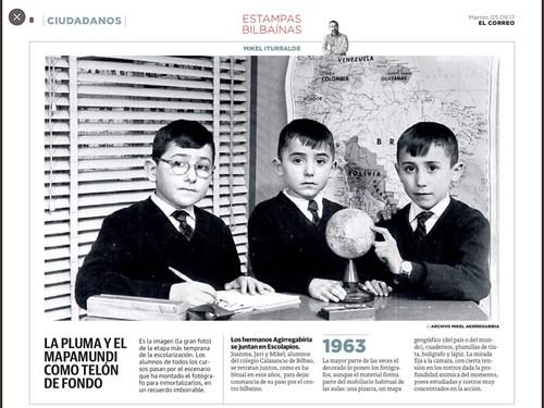Hermanos Aguirregabiria en Estampas Bilbaína. El Correo, 5-9-2017.