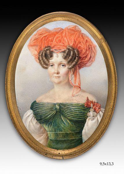 Портрет Е.А. Кологривовой,  Конец 1810-первая половина 1820-х гг. Лагрене