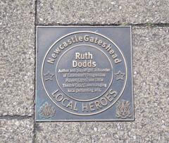 Photo of Ruth Dodds bronze plaque