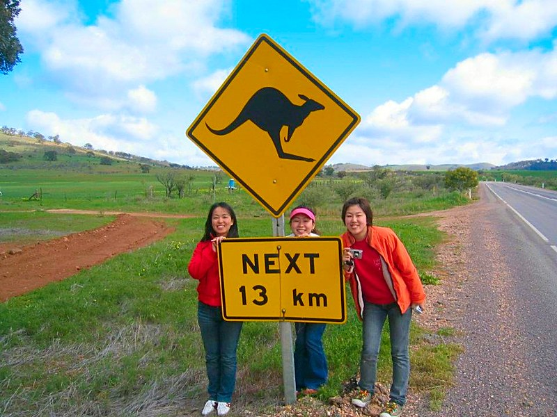 Australian Outback Japanese students