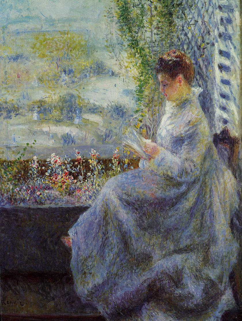Madame Chocquet Reading by Pierre Auguste Renoir, 1876
