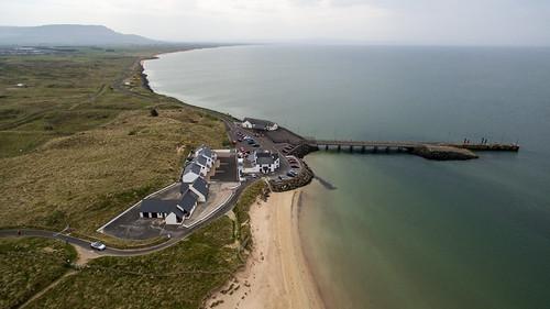 northernireland unitedkingdom dji phantom 3 pro drone quadcopter aerial view over gb