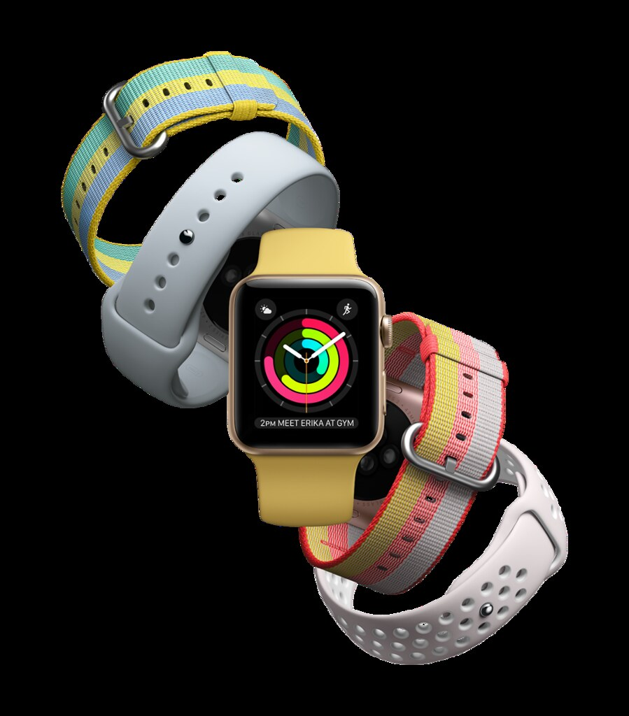 Apple Watch with summery bands (APPLE)