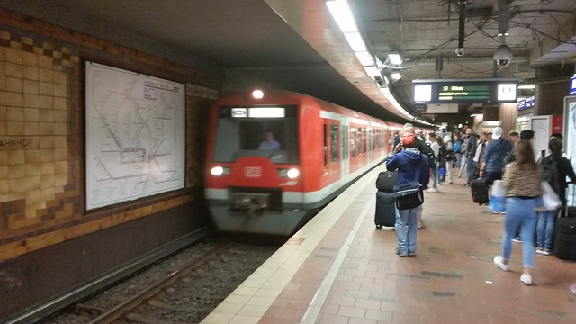 S Bahn Train at Hamburg